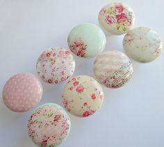 Minables boutons boutons de Rose minable Chalet Chic par LeilasLoft