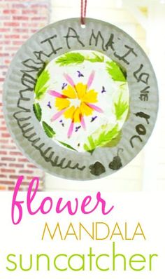 Flower Mandala Suncatcher Craft for Kids