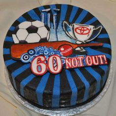 www.facebook.com/TheCakeArtists hand painted birthday sport cake  #handpainted #happybirthday #cake #thecakeartists #sport