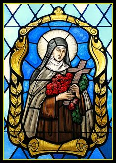 Saint Therese of Lisieux Stained Glass Window at St. Anthony of Padua Catholic Church, West Orange, New Jersey