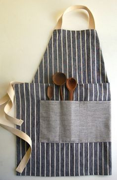 DIY Masculine Apron for the Grill Chief — and 14 other handmade gifts men would love.