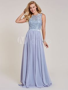 6d74ca8b431e7 Long Prom Dresses Lace Chiffon Sleeveless Illusion Sash Floor Length Formal  Gowns #Lace, #