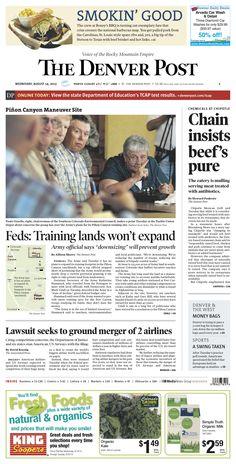 Wednesday, August 14, 2013 Denver Post A1.