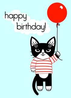 Hi Kitty Birthday Greeting Card. via Etsy.