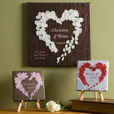 Personalized Canvas Art - Hearts of Roses