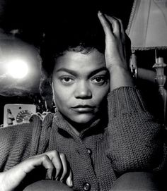 "Eartha Kitt - ""This was taken in the dressing room of the London Palldium in 1960. I was with a feature writer and she said afterwards, 'Eartha was quite flirtatious with you'. I was so involved with taking the photograph I didn't even notice."" Terry Cryer (photo)"