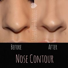 """""""✨Nose Contour✨ Using a few products can help alter the look of your nose. -Products used: - @lagirlcosmetics Beautiful Bronze concealer to contour -…"""""""