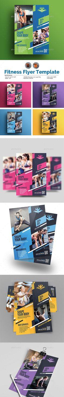 Fitness Gym Flyer - GraphicRiver #flyer #FlyerTemplate