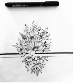 Love Tattoos, Picture Tattoos, Body Art Tattoos, New Tattoos, Tattoos For Women Half Sleeve, Flower Sketches, Band Tattoo, Tattoo Inspiration, Blackwork