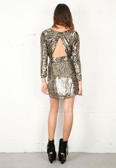 Sequin open back dress / Parker