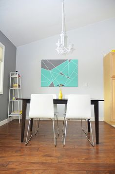 DIY Wall Art Ideas for Teens - Tape Masking on Canvas - Teen Boy and Girl Bedroom Wall Decor Ideas - Cheap Canvas Paintings and Wall Hangings For Room Decoration Diy Artwork, Diy Wall Art, Tape Art, Diy Home Decor, Room Decor, Wall Decor, Mur Diy, Cuadros Diy, Organizing Ideas