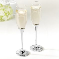 Glitter Galore Toasting Flutes | Champagne Toasting Flutes I like the whole line of glitter galore - Exclusively Weddings