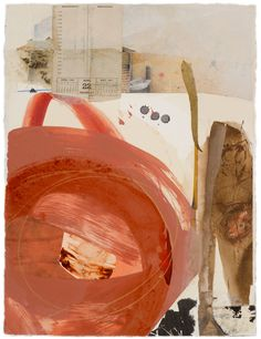 Fran Stiles - Earth Paper Series VII, 24x 18, Ink, water based paints, photography and papers with acrylic medium.