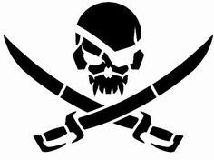 Pirateskull Stencil Stencil Military Tactical by TacticalTextile, $12.99