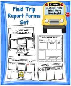 Eight field trip report forms that will help your students become more accountable for what was learned on a field trip. #tpt#fieldtrip#teacherspayteachers