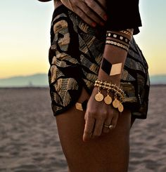 Sequin Shorts + Flash Tattoos | Goldfish Kiss