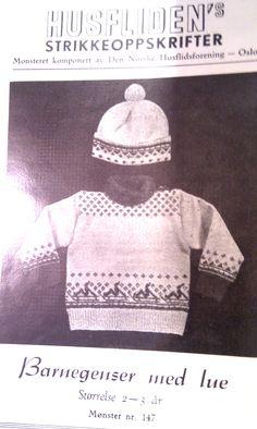 Husfliden 147 Norwegian Knitting, Crochet Hats, Fashion, Patterns, Knitting Hats, Moda, Fashion Styles, Fashion Illustrations