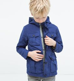 Hooded parka with pockets-Jackets-Boy (3-14 years)-KIDS | ZARA United States