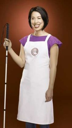 Christine Ha: season 3 winner of Master Chef. One of few people in this world that I'm inspired by.