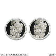 Shop Spirea Arguta Cufflinks created by Personalize it with photos & text or purchase as is! White Flowering Shrubs, Designer Cufflinks, Waterproof Coat, Silver Bullet, Stylish Men, Studs, Create Yourself, Engagement Rings