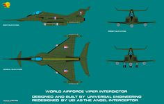 Century 21 World Airforce Viper Interceptor by ArthurTwosheds. Based on the Angel Interceptor from the Gerry Anderson series, Capt. Lost In Space, Science Fiction Art, Kids Shows, Viper, Military Aircraft, Air Force, Sci Fi, Cartoons, Concept
