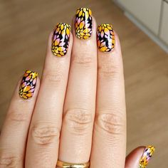 Distinctive mani created by @linethoegers via instagram utilizing MM20 nail stamping plate from Messy Mansion