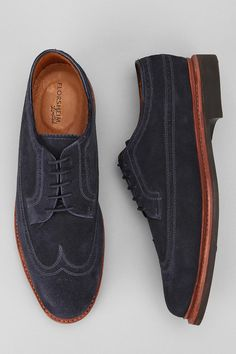 blue buede shoes
