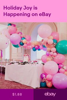 Balloon Chain Tape Arch Connect Strip for Wedding Birthday Party Decor Newest Wedding Balloons, Birthday Balloons, 1st Birthday Parties, Birthday Ideas, 1st Birthdays, 2nd Birthday, Balloon Decorations, Birthday Party Decorations, Valentinstag Party
