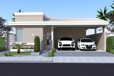Planta de casa térrea com escritório - Projetos de Casas - Modelos de Casas