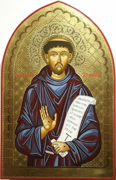 Icon Francis Of Assisi, St Francis, Greek Icons, Religious Icons, Caligraphy, Roman Catholic, Ikon, Art Forms, Florence