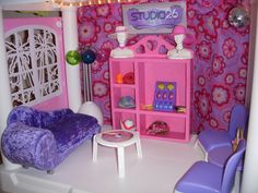 Barbie Salon Waiting Area Plastic Shelving Units, Barbie Store, Salon Waiting Area, Restoration, Toddler Bed, Furniture, Home Decor, Home, Child Bed