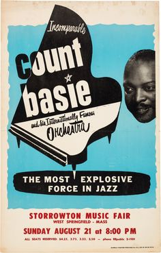 Count Basie Storrowtown Music Fair Concert Poster (circa 1966).... | Lot #89201 | Heritage Auctions