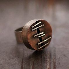 Sterling silver ring with copper