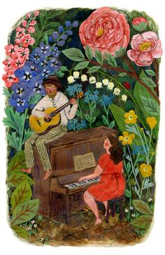 In The Flowers print by PhoebeWahl on Etsy, $40.00