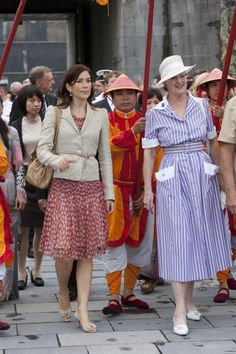 Queen Margrethe and Princess Mary