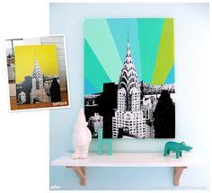 home decorating – Sarah Epstein Creative Target Hacks, Kmart Decor, Chrysler Building, Kmart Hack, Home Decor Items, Boy Room, Room Inspiration, Wall Art, House Styles