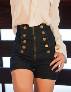 High-Waisted--these are so cute, plus they're not too short either so i love them even more.