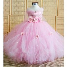 dress up lovely girls on sale at reasonable prices, buy Princess Tutu Tulle Flower Girl Dress Kids Party Pageant Bridesmaid Wedding Tutu Dress Pink Lavender Gown Dress Robe Enfant from mobile site on Aliexpress Now! Princess Tutu Dresses, Pink Tutu Dress, Pink Flower Girl Dresses, Girls Tutu Dresses, Flower Girl Tutu, Flower Girls, Costume Fleur, Ball Gowns Evening, Evening Dresses