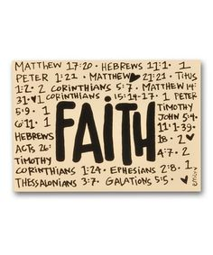 Look at this #zulilyfind! 'Faith' Block Sign #zulilyfinds