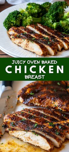 This ultra juicy Oven Baked Chicken Breast Recipe only takes a few minutes of prep, resulting in tender, juicy chicken breast every time! - The ingredients and how to make it please visit the website Oven Baked Chicken, Baked Chicken Breast, Canned Chicken, Broccoli Recipes, Rice Recipes, Pasta Recipes, Crockpot Recipes, Fast Dinner Recipes, Easy Chicken Dinner Recipes