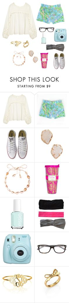 """""""Untitled #64"""" by lilamaay ❤ liked on Polyvore featuring H&M, Converse, Kendra Scott, Lilly Pulitzer, Essie, lululemon, Fujifilm, Ray-Ban and Kate Spade"""