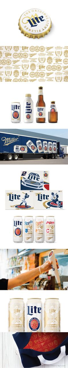 Miller Lite Packaging and Visual Identity. Designed by Turner Duckworth.