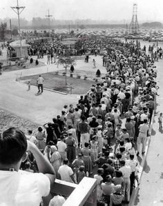 Disneyland opened 58 years ago today. Here's a view of the line to purchase tickets on opening day.