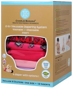 Charlie Banana Reusable Diapers - They also come in a 3 pack and you can purchase them @ target.com