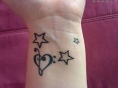Heart And Star Tattoo On Wrist picture 16644