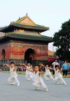 World martial art Chinese kids