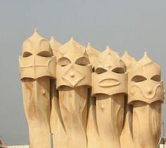 #CasaMila chimneys, #AntoniGaudí.
