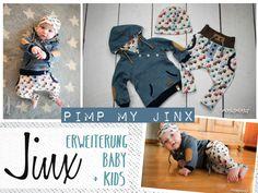 Lässige Hose für Babys und Kleinkinder von Gr. 44 bis 104. Zur Einführung der Jinx Kids bis zum 19.12.16 reduziert.