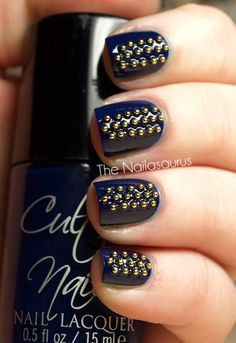 Looking to give your mani a little bit of edge? Try studded nails.