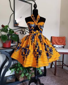 Your place to buy and sell all things handmade - African Print Midi Skirt and Wrap for Top, African Print Skirt Set Short African Dresses, Latest African Fashion Dresses, African Inspired Fashion, African Print Fashion, Fashion Prints, Africa Fashion, Ankara Fashion, Tribal Fashion, Short Dresses